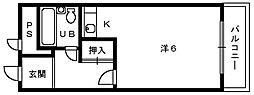 湯川マンション津久野[3階]の間取り