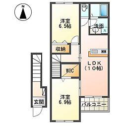 (仮称)茂原市東郷新築アパート[205号室]の間取り