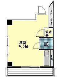 福岡県福岡市中央区天神5丁目の賃貸マンションの間取り