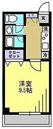 メルベイユII[203号室]の間取り
