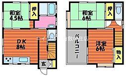[一戸建] 岡山県倉敷市西阿知町西原 の賃貸【/】の間取り