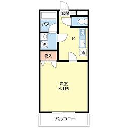 新潟県新潟市西区小新西2丁目の賃貸マンションの間取り
