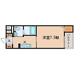 JR東海道本線 東静岡駅 徒歩5分の賃貸マンション 4階1Kの間取り