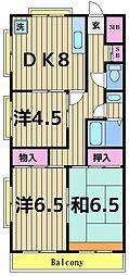 ロイヤルパール[2階]の間取り