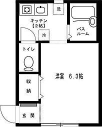 埼玉県朝霞市根岸台7丁目の賃貸アパートの間取り