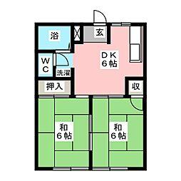 ファーストTM 1・2[1階]の間取り