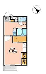 兵庫県加西市北条町古坂6の賃貸アパートの間取り
