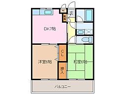 第一プリンスマンション[3階]の間取り