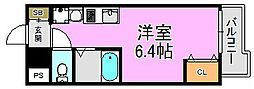 リバーランド堺東[3階]の間取り