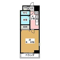 パルティール覚王山[8階]の間取り