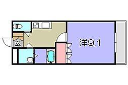 滋賀県東近江市林田町の賃貸アパートの間取り