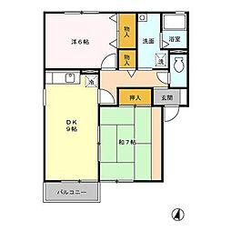セジュール村田町A棟[1階]の間取り