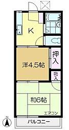 相川ハイム[2階]の間取り