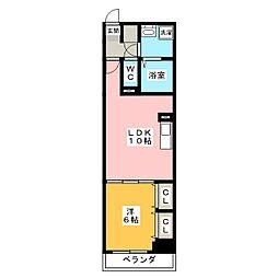 仮称 山王マンション[3階]の間取り