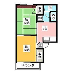 サンコーポ松竹[2階]の間取り