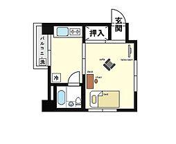 家具・家電付き コーポM[1階]の間取り