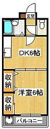プラーティット本中山[2階]の間取り