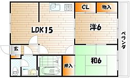 ロマネスク志井[2階]の間取り