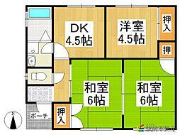 [一戸建] 福岡県八女市津江 の賃貸【/】の間取り