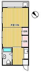 中村マンション[3階]の間取り