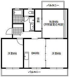 スカイヒル21-I[3階]の間取り