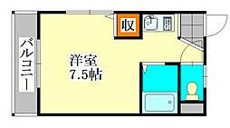 ドミールスズキ津田沼[2階]の間取り