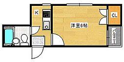 シャトーリヨン[1階]の間取り