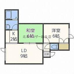 PLAZA IN SHINKAWA[3階]の間取り