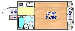 兵庫県神戸市東灘区御影郡家1丁目の賃貸マンションの間取り