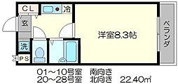 ブランベージュ桂[2階]の間取り