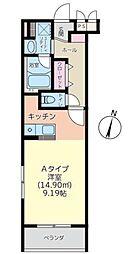 神奈川県秦野市南矢名3丁目の賃貸マンションの間取り