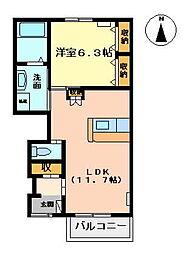 山茶花[1階]の間取り