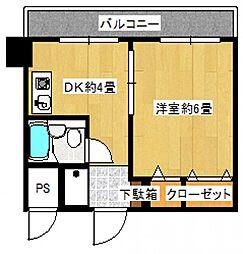 武蔵小杉マンションA棟[3階]の間取り