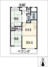 黒川ターミナルハイツ[7階]の間取り