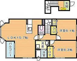 アルドーレII[2階]の間取り