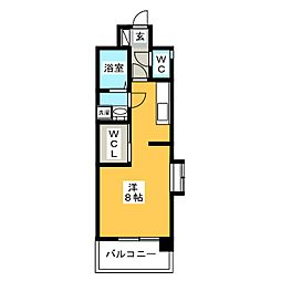 エンクレスト博多III[8階]の間取り