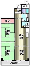 エクセル三国[1階]の間取り