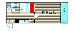 クレール南堀江[402号室]の間取り