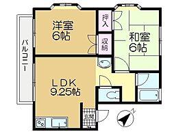 ハイツ王子台[1階]の間取り