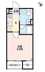 シャトーレ西明石(シャトーレニシアカシ)[2階]の間取り
