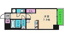 レジュールアッシュOSAKA今里駅前 7階1Kの間取り