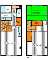 [テラスハウス] 東京都福生市南田園1丁目 の賃貸【/】の間取り