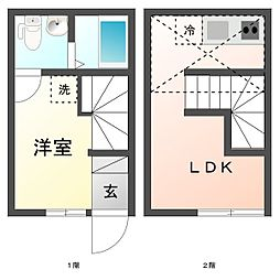 Gojo Apartment[5号室]の間取り