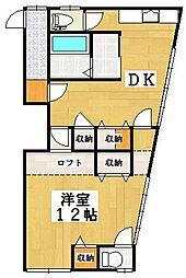 中島アパート[2階号室]の間取り