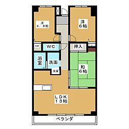 ユーハウス覚王山[2階]の間取り