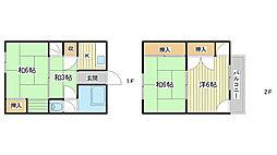 [一戸建] 兵庫県姫路市青山西1丁目 の賃貸【/】の間取り