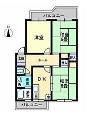 レクシス木太町[2階]の間取り
