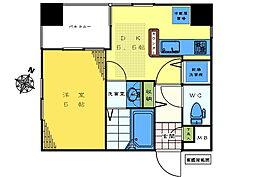 コンフォヤード東中野[401号室]の間取り