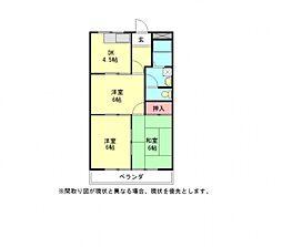 愛知県一宮市千秋町加茂字新出の賃貸アパートの間取り