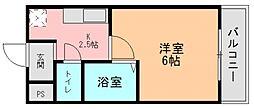 奈良県生駒郡三郷町立野南1丁目の賃貸マンションの間取り